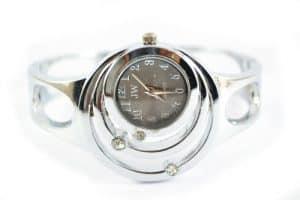 Silberne Luxusuhr