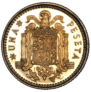 Münze Gold Pesetas